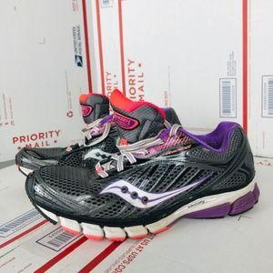 Saucony Womens Ride 6 Purple Running Sneakers Sz 9